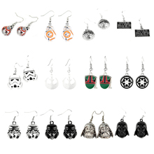 High Quality Star Wars Millennium Falcon 3D Dangle Earrings Vintage Style Metal Alloy Spaceship Model Jewelry for Souvenirs