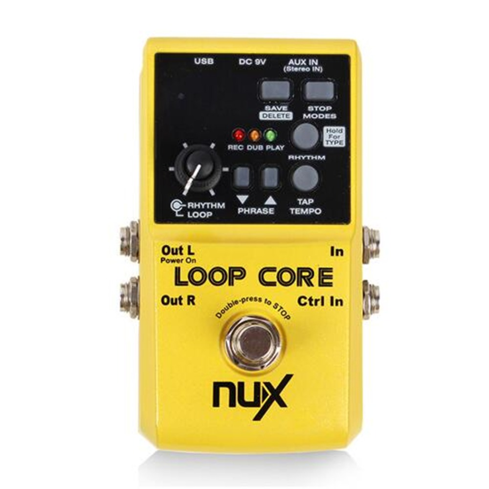 NUX 6 Hours Recording Time Loop Core Guitar Effects Pedal Looper Pedals Looping Station Built-in Drum Patterns nux octave loop guitar pedal looper 5 minutes recording time electric bass built in octave effect accessories