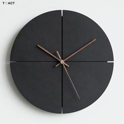 Reloj de pared minimalista nórdico, relojes para salón negros, Relojes de pared silencioso para el hogar con personalidad, decoración del hogar