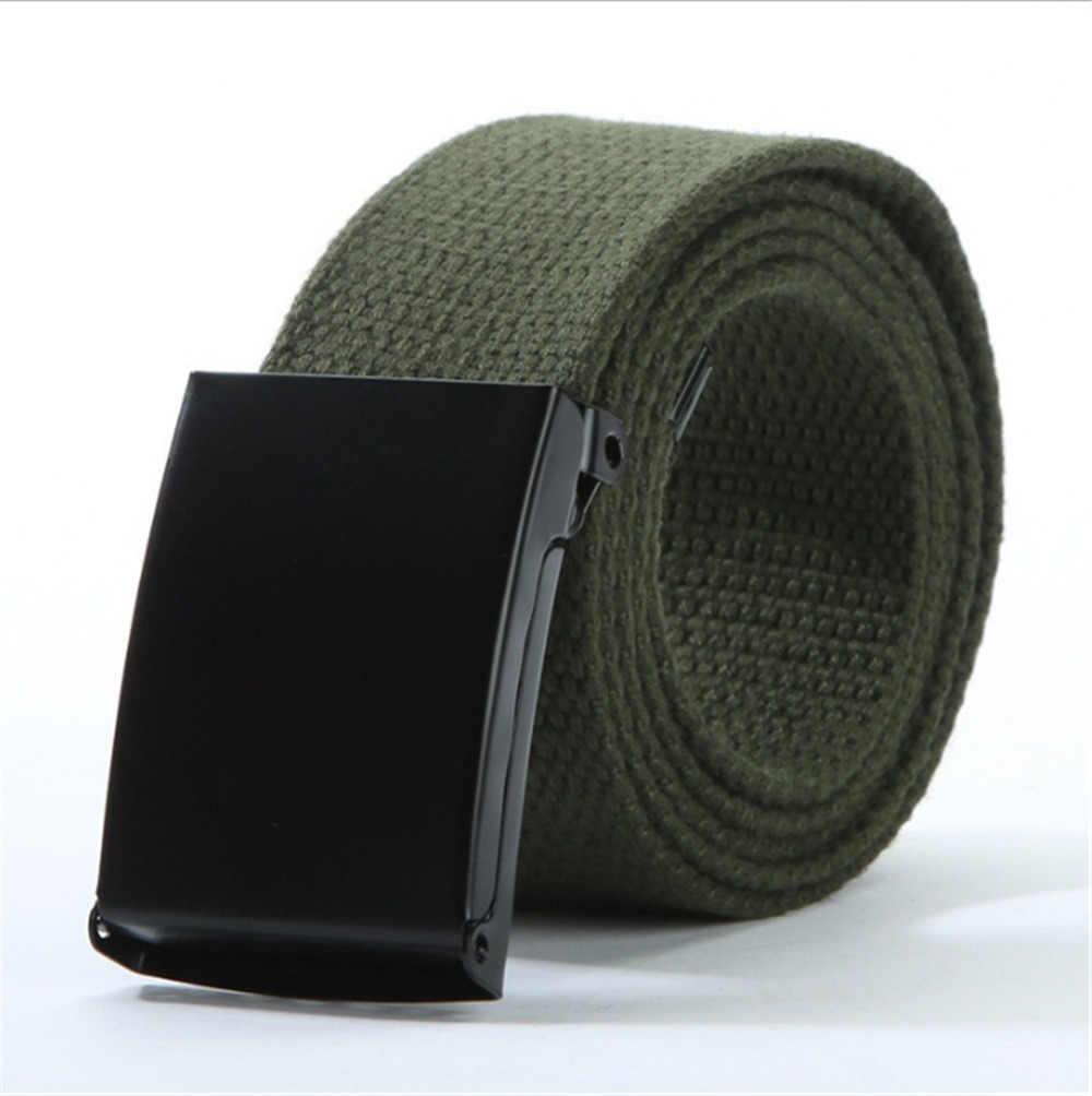 Solid Army Militaire Tactische Combat Canvas Riemen Nylon Metalen Mannen Riem Automatische Gesp Mannelijke Riem Tailleband Voor Broek