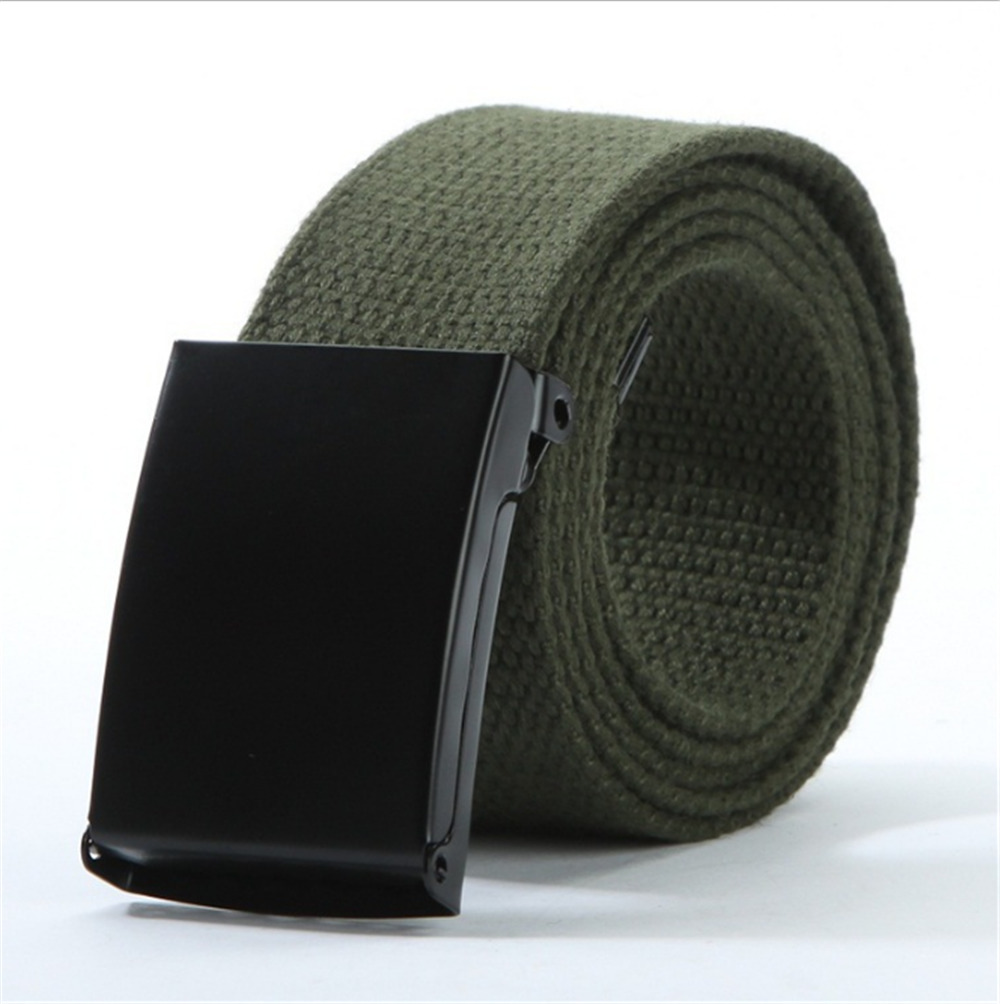 Solid Army Military Tactical Combat Canvas Belts Nylon Metal Men Belt Automatic Buckle Male Strap Waistband For Pants