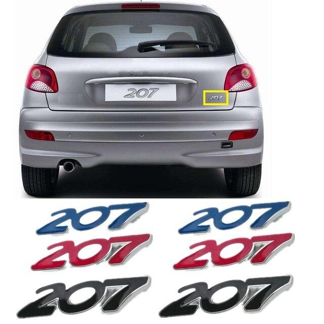for peugeot 207 car sticker 3d rear trunk emblem badge sticker decal