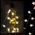 10 m 100 LEDs LED estrela cordas Warm White Star String Para Festa Do Casamento Do Feriado Da Árvore de Natal Luzes Da Corda Decorativos