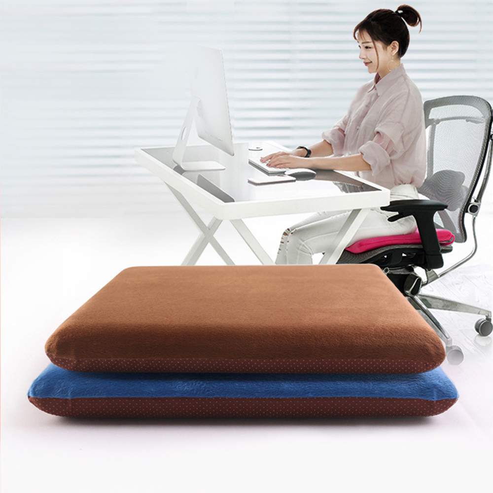 Square Memory Foam Seat Cushion Honeycomb Anti-slip Soft Home Office Chair Pad