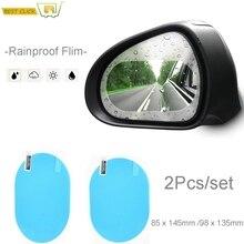 2Pcs/Set Anti Fog Water Mist Car Mirror Window Clear Film Rearview Mirror Protective Film Waterproof Rainproof Car Sticker