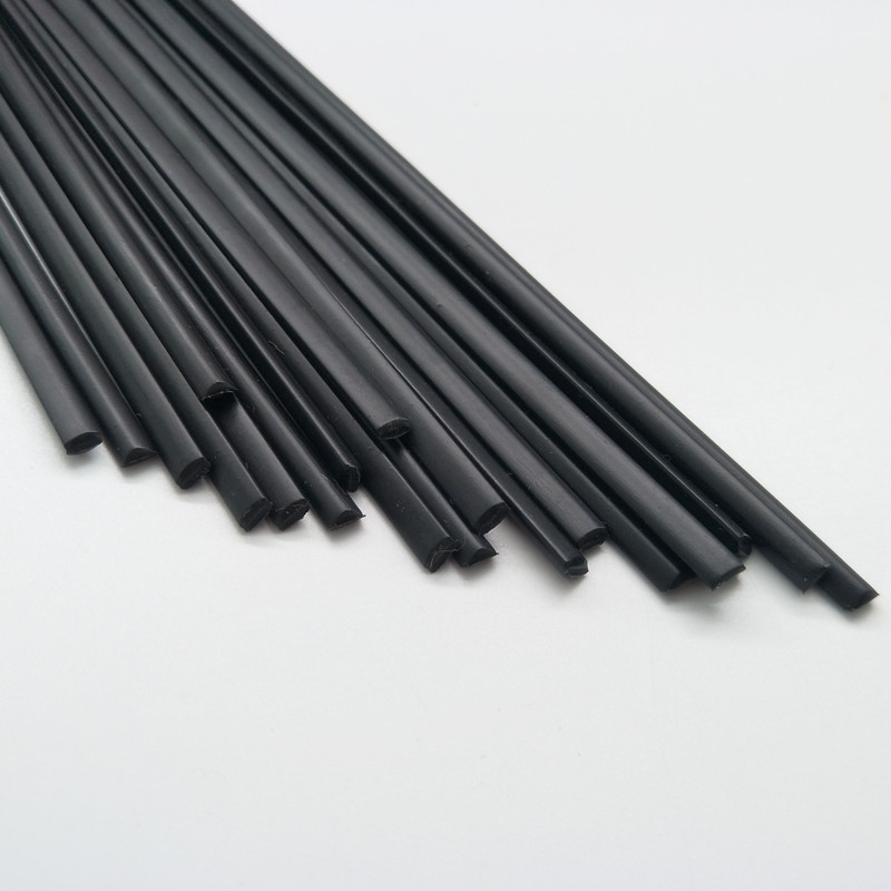 ABS Plastic welding rods black 20 rods triangle shape 5mm
