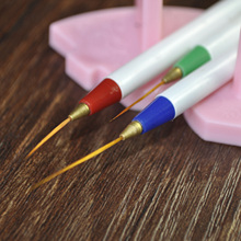 3pcs Nail Art Brush Stripe Liner Pen Paint Brushes