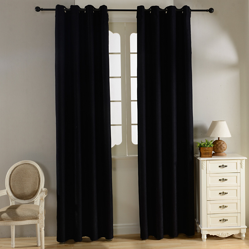 Plain Velvet Cotton Curtains For Living Room Bedroom Door Window Panel Blackout  Curtain Drapes Burgundy Grey Black Coffee Brown In Curtains From Home ... Part 36