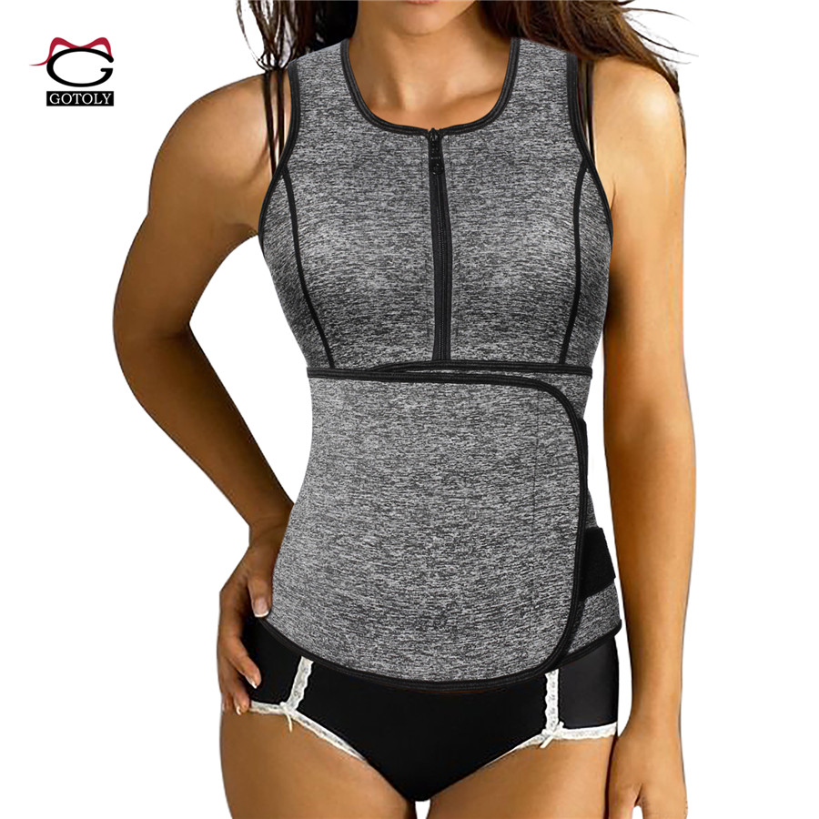 Hot Shapers Neoprene Sauna Sweat Vest Waist Trainer Cincher Women Body Slimming Trimmer Corset Workout Thermo Push Up Trainer Elegant And Graceful Shoes