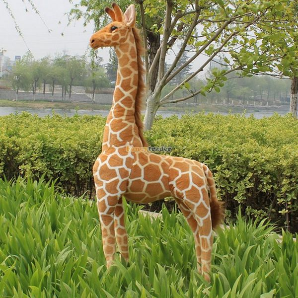 Fancytrader Real Picture! 55'' / 140cm Huge Soft Stuffed Cute Plush Simulated Giraffe Toy, Free Shipping FT50621 fancytrader new style giant plush stuffed kids toys lovely rubber duck 39 100cm yellow rubber duck free shipping ft90122