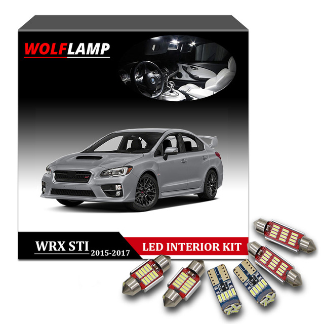 Wolflamp 8pcs White Ice Blue Canbus Led Interior Car Lights For 2017 Subaru Wrx Sti Map Light Door Lamp License Plate Bulb