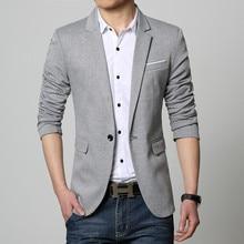 New Slim Fit Casual jacket Cotton Men Smart Casual Blazer