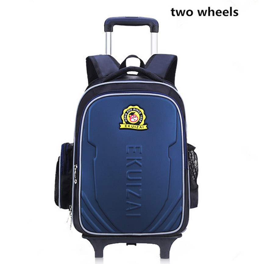 New Style Kids Trolley Backpack Fashion Roller Knapsack Children Students Rolling Backpack School Bag Laptop Bag new style school bags for boys