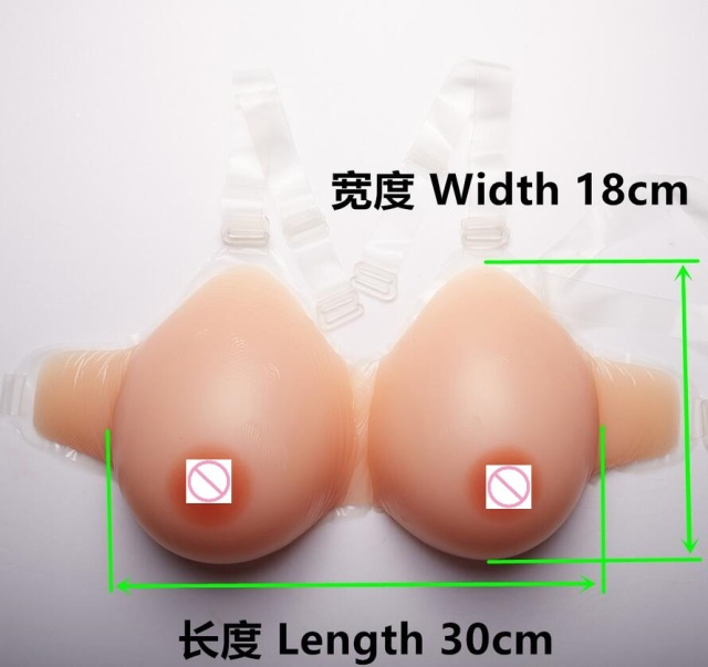 1400g 38DD/40D-36E Silicone Fake False Breast prosthesis