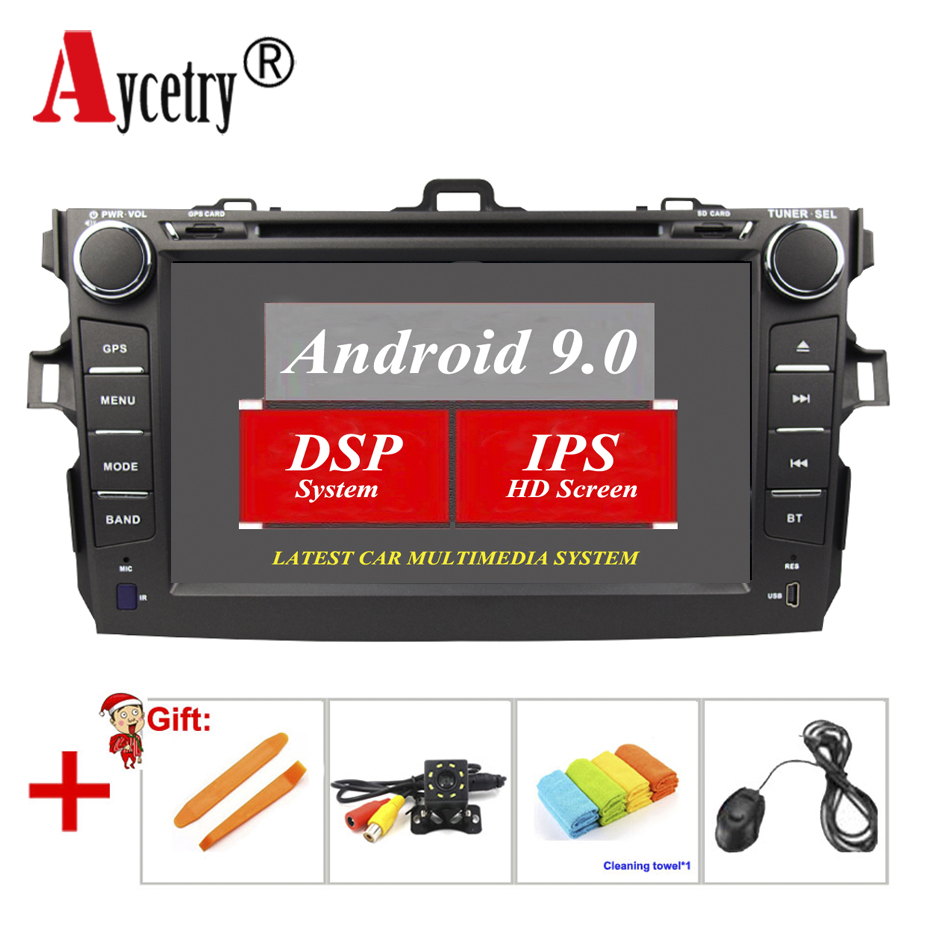 Aycetry! DSP IPS 2 din android 9.0 car dvd player gps multimedia audio for Toyota corolla 2007 2008 2009 2010 2011 car radio fm