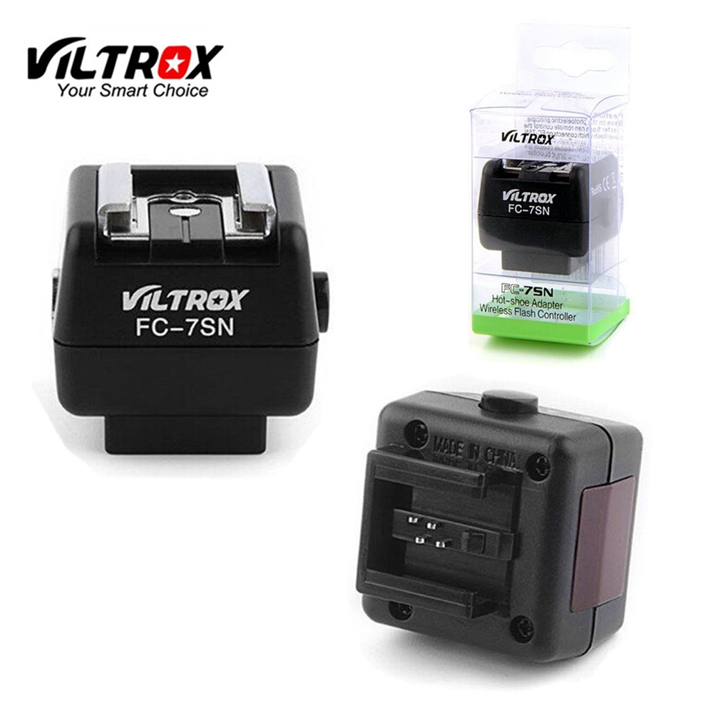 Viltrox FC-7SN Sans Fil Flash Hot Shoe Adaptateur Optique Slave Trigger PC Sync Pour Canon Nikon Pentax flash pour Sony Minolta caméra