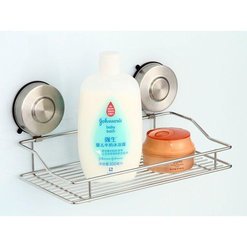 Bathroom Corner Shelf Stainless Steel Kitchen Storage Rack Wall Mounted Single Tier Accessories