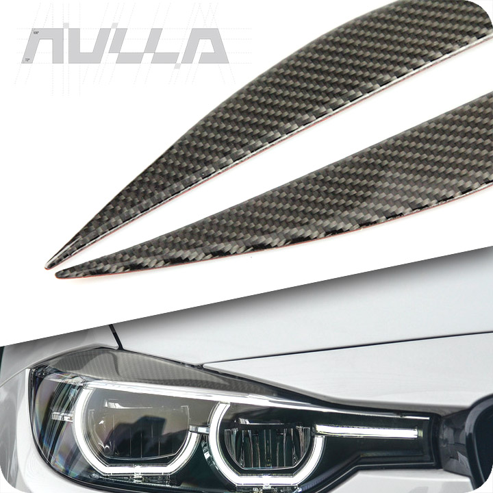 Carbon Fiber Headlights Eyebrows Eyelids Trim For <font><b>BMW</b></font> <font><b>3</b></font> <font><b>Series</b></font> F30 <font><b>GT</b></font> 320i 316i 325i Cover Decoration Front Headlamp accessorie image