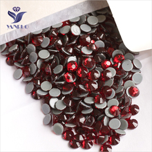 YANRUO 2058HF SS16 Dark Siam 1440Pcs Hotfix Rhinestone Flatback Iron On Crystal Stones Accessories for Fabric