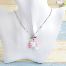 Colorful Unicorn Head Shaped Best Friends Necklace Set