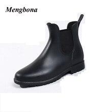 2016 Горячие продажа Мода Черный женщины резиновая водонепроницаемые сапоги дождь обувь ИЗ ПВХ для женщин botas де агуа резиновые YX013
