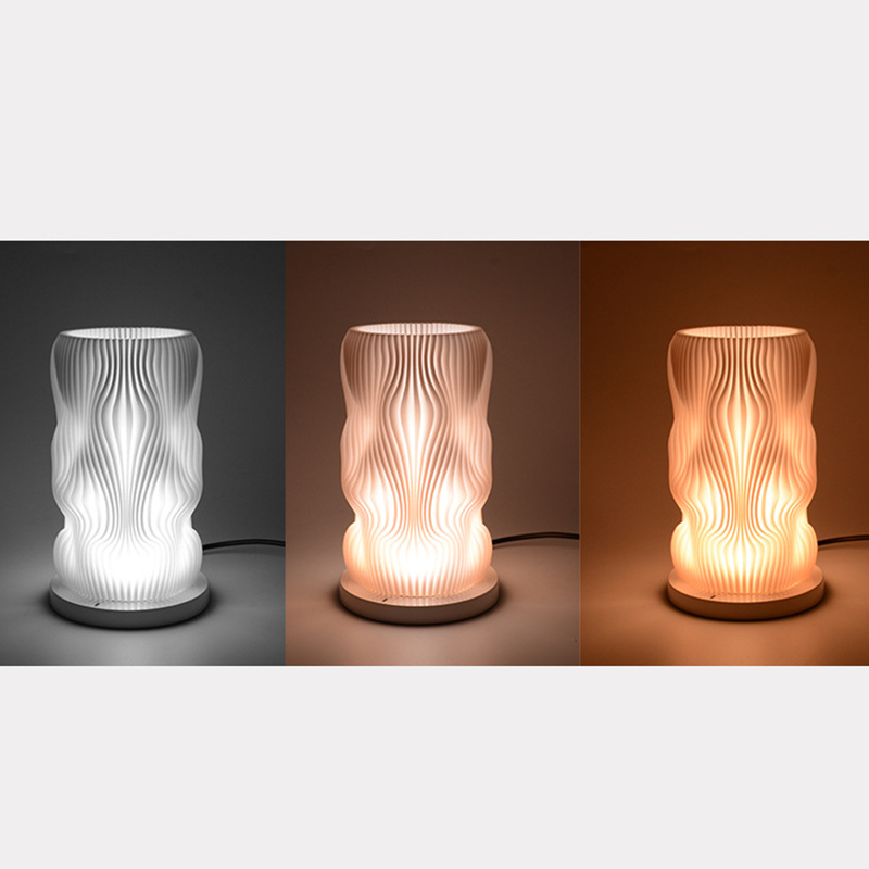 High Quality USB Charging 3D Printing New Novelty Bedroom LED Night Light Dimmable Creative 3 Color Changing Table Lamp in Party DIY Decorations from Home Garden