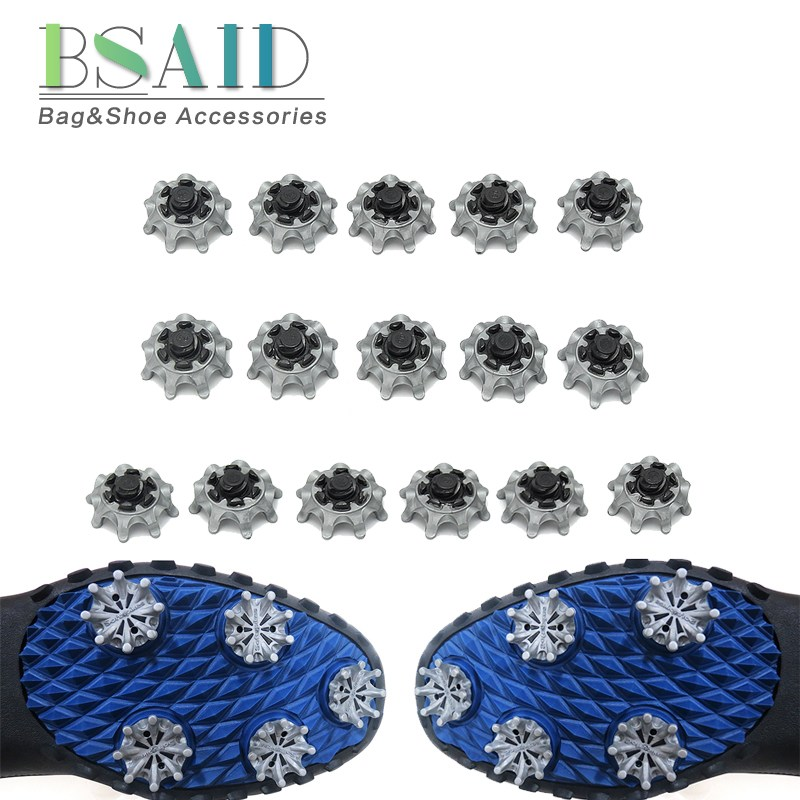 BSAID 16 pcs/lot Replaceable Golf Shoes Spikes Pins 1/4 Turn Studs Cleats Fast Twist Shoe Spikes Golf Practice Accessories цена и фото