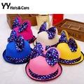 Cute!Baby Girl Summer Sun Hats Fashion Minnie Cap Brand New Straw Hat With Big Bow Children Beach Cap Sombrero Paja Chica YY0141