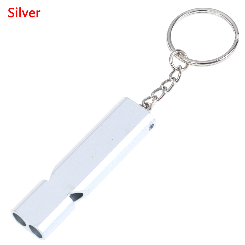Outdoor Ultra Loud Compact Emergency Survival Whistle with Keychain Gold//Silver