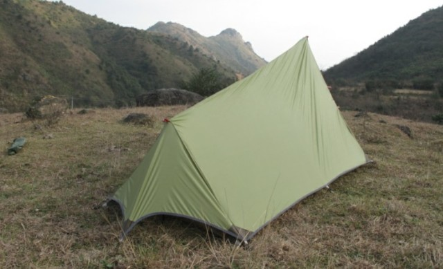 Ultralight Single Layer Tent Three Season 1-2 Person C&ing Travel Tent Portable Waterproof Shelter & Ultralight Single Layer Tent Three Season 1 2 Person Camping ...