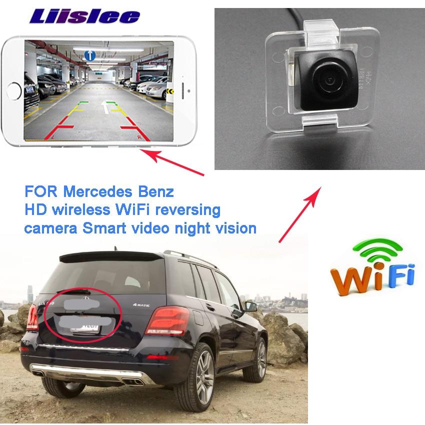 Liislee wireless hd reversing backup camera for Mercedes Benz GLK Class X204 GLK200 GLK220 GLK250 GLK320 GLK350 waterproof