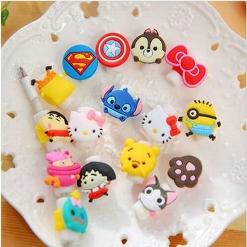 Cartoon Cute Lovely Usb Cable Protector Cable Case For Iphone 6 plus 6s 7 plus Cover Winder Cord protector organizer cable Owl image