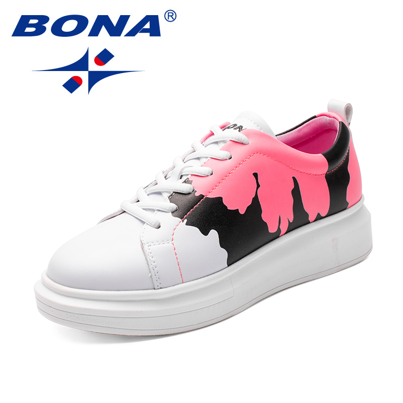 BONA New Arrival Classics Style Women Skateboarding Shoes Lace Up Women Athletic Shoes Synthetic Women Outdoor