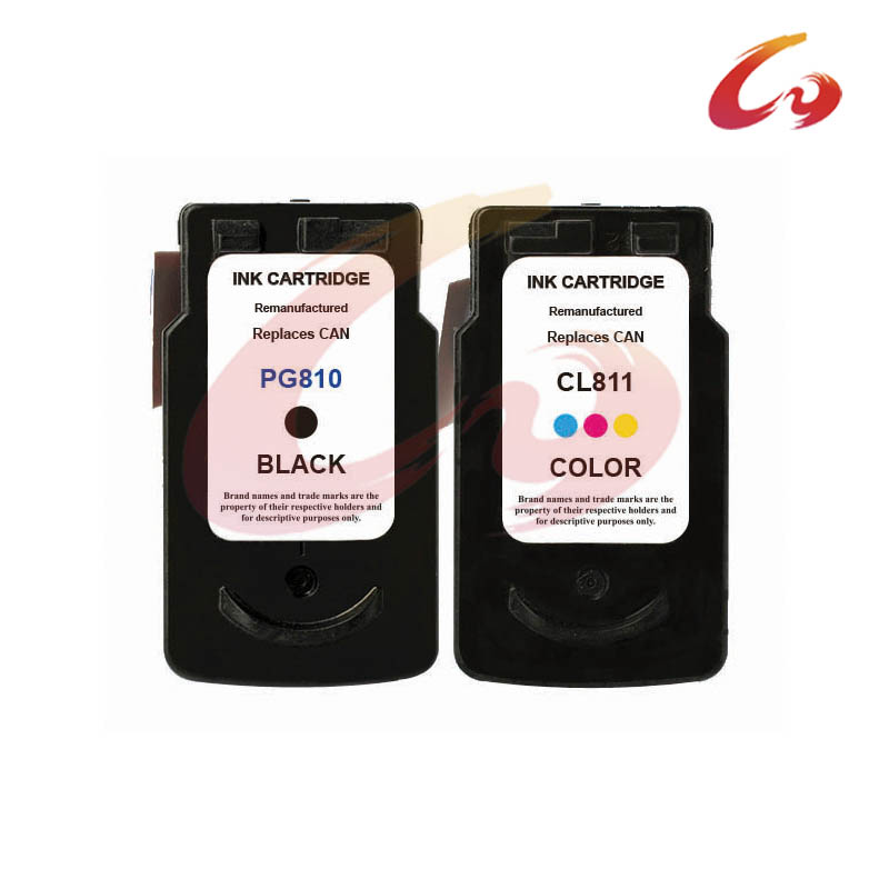 2Pcs PG 810 CL 811 Ink Cartridge For Canon PG 810 xl CL 811 xl For