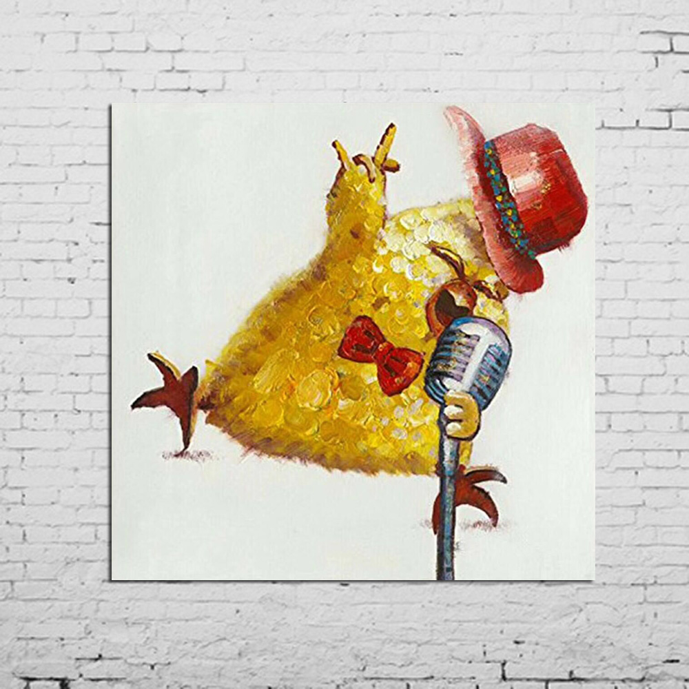 New Fashion Rooster Chicken Wall Art 100%Handmade Oil Painting ...