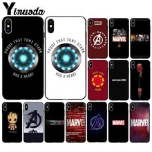 Yinuoda Marvel love you 3000 Novelty Fundas Phone Case Cover for Apple iPhone 8 7 6 6S Plus X XS MAX 5 5S SE XR Mobile