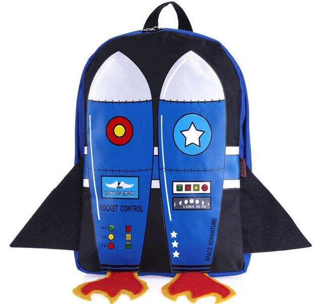 Joyloading 3D Cartoon Flying Rocket Design Kids Backpack Students Preppy  Schoolbag Children Pack f6d7c6e6bb