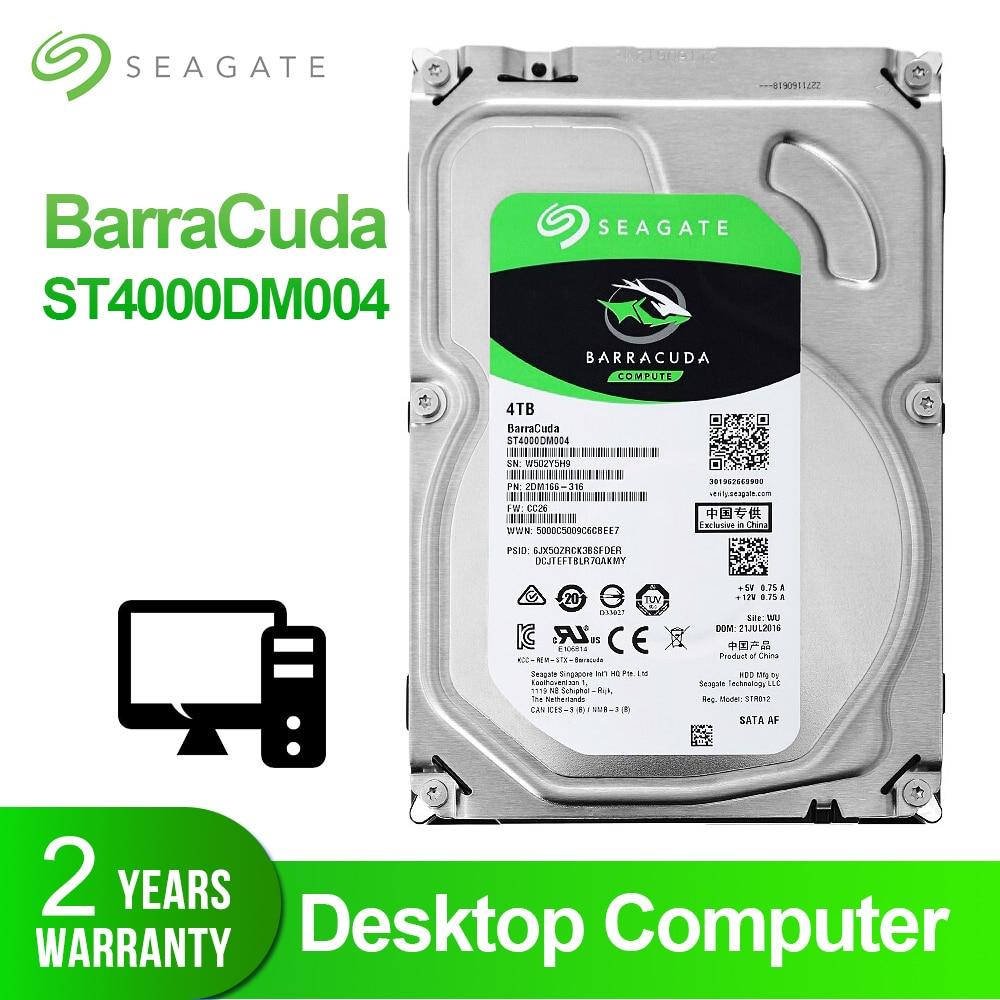 Seagate TB 4 Desktop HDD Internal Hard Disk Drive 5400 RPM SATA 6 Gb/s 256MB de Cache 3.5 polegada HDD unidade de Disco Rígido Para Computador ST4000DM004