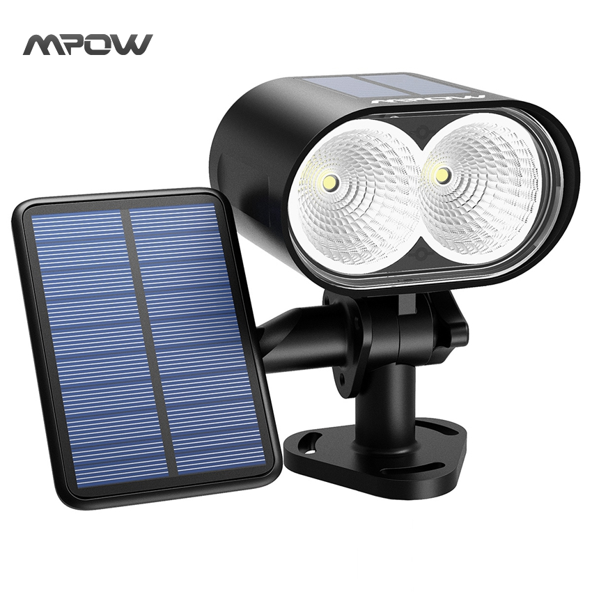 Cheap Security Lights Outdoor: Mpow 2LEDs Solar Light Wireless IP65 Waterproof Outdoor Security Night  Spotlight for Patio Driveway(China,Lighting