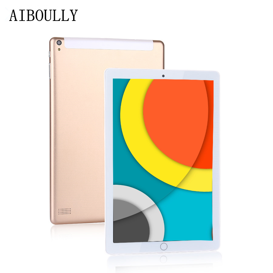 AIBOULLY Original 10.1 inch Tablet Pc 4GB RAM+64GB ROM 3G 4G Phone Call Android 7.0 Octa Core 8MP Camera Tablets Pc A-GPS 7 10 cige a6510 10 1 inch android 6 0 tablet pc octa core 4gb ram 32gb 64gb rom gps 1280 800 ips 3g tablets 10 phone call dual sim