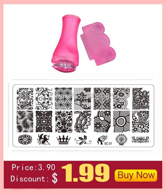 ∞2016 nueva moda Plantillas de manicura set Placas manicura ronda ...