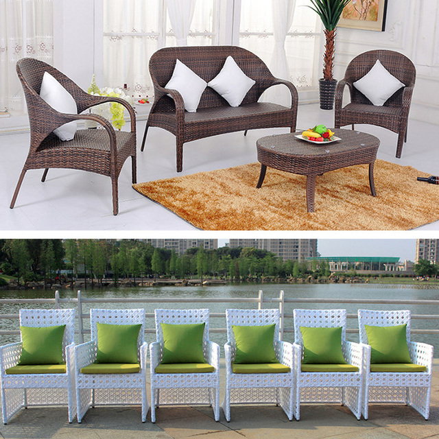 Waterproof Garden Cushion Furniture Cane Pads Bench Outdoor Seat Cushion Back Cushions 45x45CM Include PP Cotton Filling