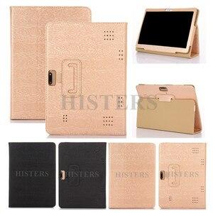 Чехол из искусственной кожи для TrekStor Primetab Surftab B10, 32 ГБ, серый, 10,1-дюймовый планшет, трехслойный чехол с подставкой (можно носить с клавиатурой...