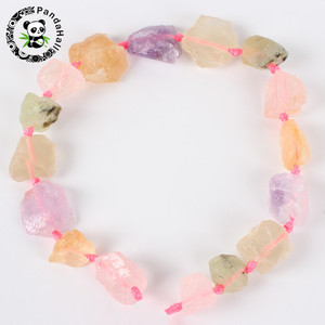 Pandahall Irregular Nuggets Natural Stone Beads for Jewelry Making DIY Necklace Bracelet 13~40x10~26x10~23mm Hole: 2mm About 14~
