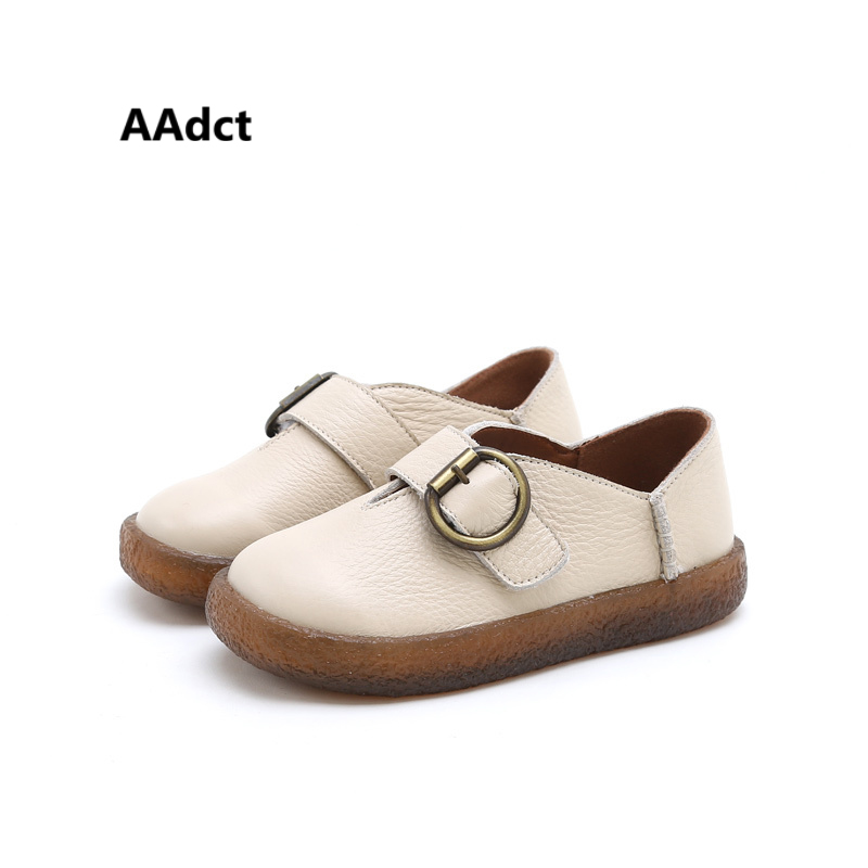 AAAdct новые модные кожаные Обувь для мальчиков удобные под старину детская обувь для девочек высококачественные kids'shoes