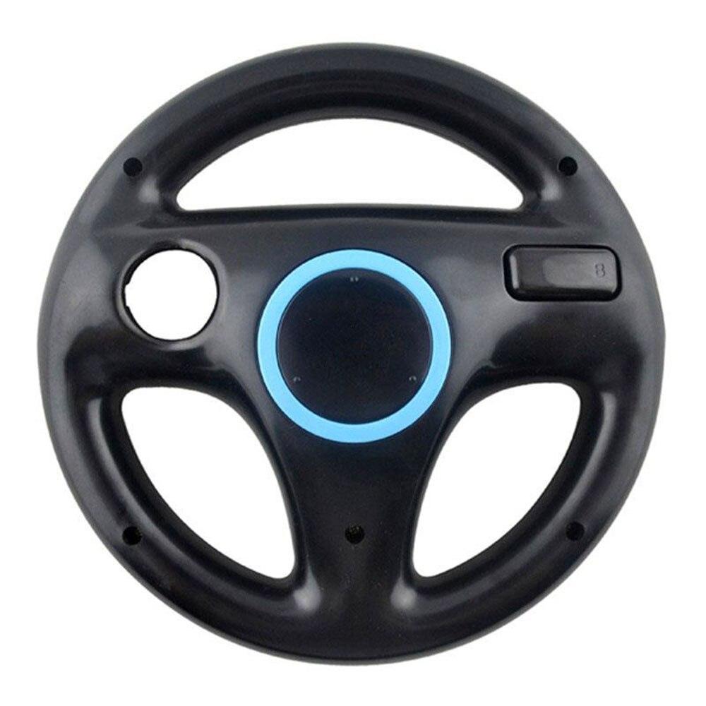 Подарок на Хэллоуин гоночная игра круглый руль пульт дистанционного управления для nintendo для wii - Цвет: Черный