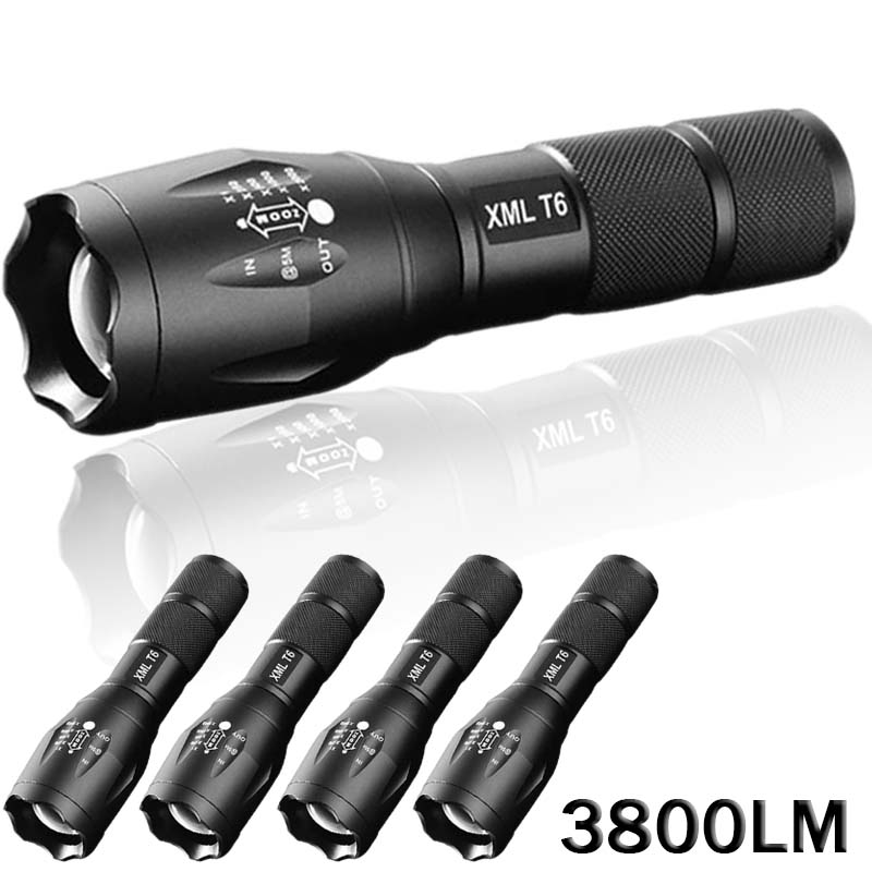 Led torch linterna potente led 3800 lumens led flashlight for Linterna de led potente