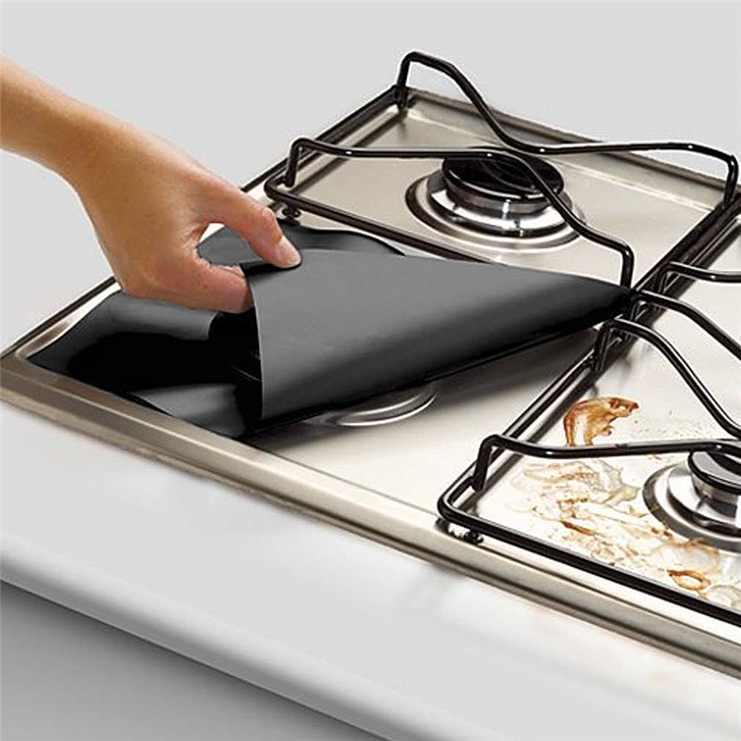1Pcs Practical Gas Hob Oil Protection Liner Reusable Stove Stickers Furnace Surface Protection Pads Kitchen Cooking Utensils