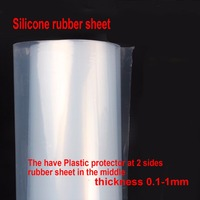 1000x1000mm x T 0.8 white silicone rubber sheet pad Silicone rubber film thin board hot resistance insulation film pad gasket