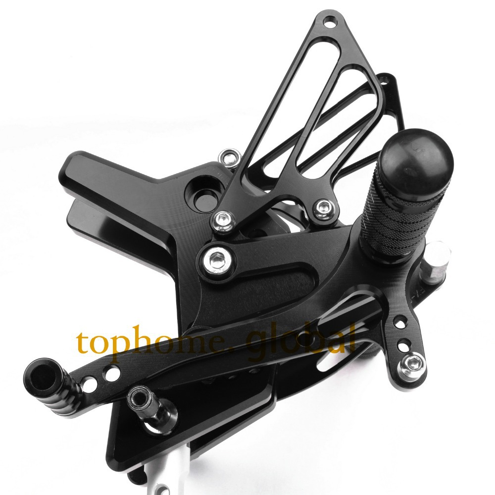 Free Shipping Motorcycle CNC Rearsets Foot Pegs Rear Set For Kawasaki Z750 2004 2005 2006 motorcycle foot pegs Black Color free shipping motorcycle dark grey cnc rearsets foot pegs rear set for suzuki sv650 sv650s motorcycle foot pegs
